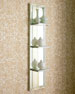 Image 3 of 3: Mirrored Shelf Wall Panel