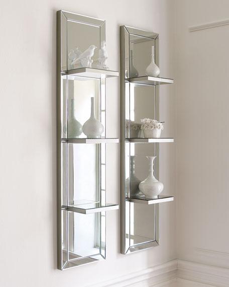 Mirrored Shelf Wall Panel Neiman Marcus