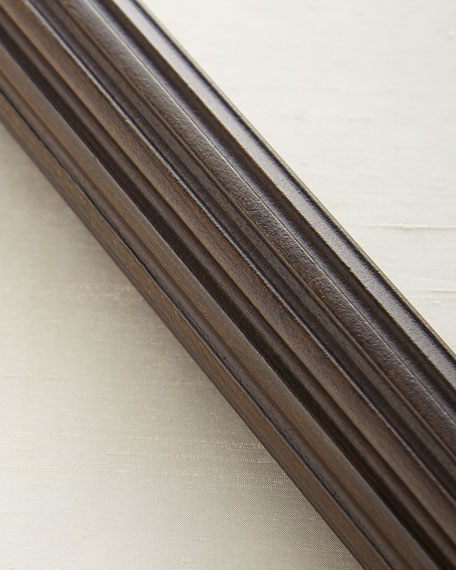 8'L Fluted Wood Drapery Rod