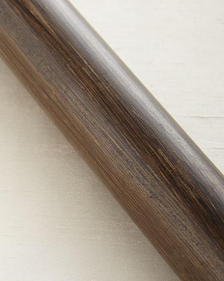 6'L Smooth Wood Drapery Rod
