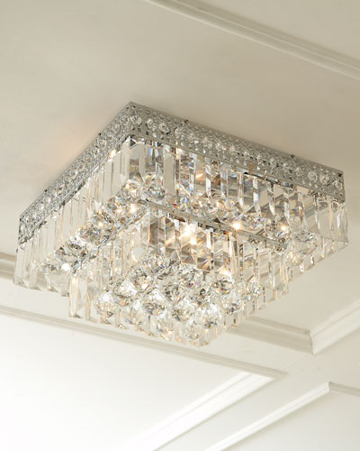 Five-Light Crystal Flush-Mount Ceiling Fixture