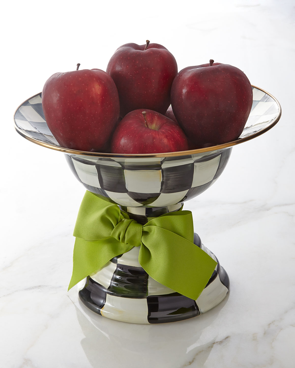 MacKenzie-Childs Large Courtly Check Compote