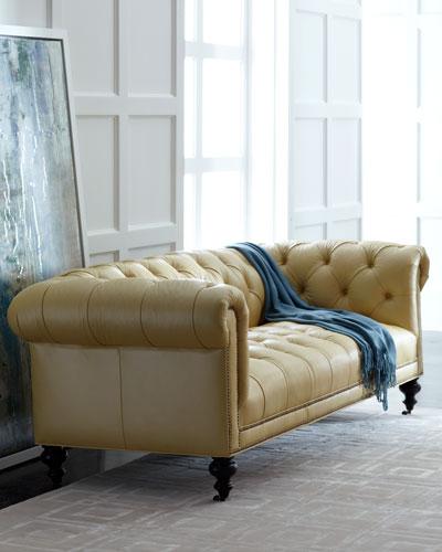 Morgan Sunshine Leather Chesterfield Sofa