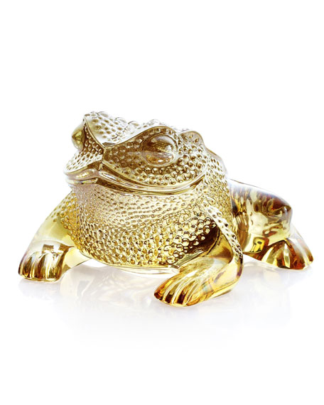 Lalique Gregoire Frog Sculpture