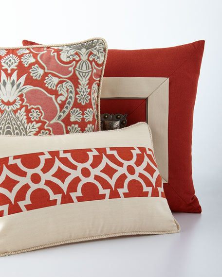 Elaine Smith Orange Outdoor Pillows
