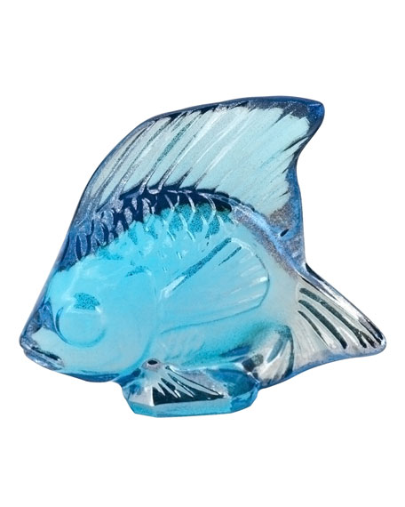 Lalique Lustre Blue Fish