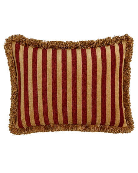 Austin Horn Collection Bellissimo Standard Pieced Sham with Fringe