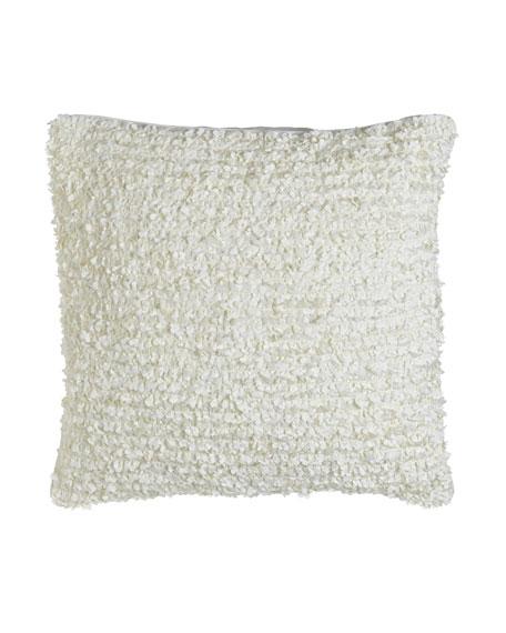 """Hydrangea Petals Pillow, 20""""Sq."""