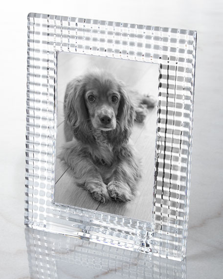 "Baccarat Eye Photo Frame, Clear - 5"" x 7"""