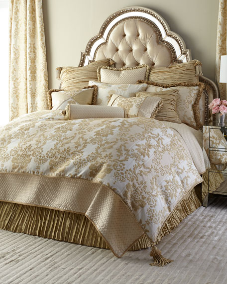 Austin Horn Collection Antoinette King Diamond-Stitch Coverlet