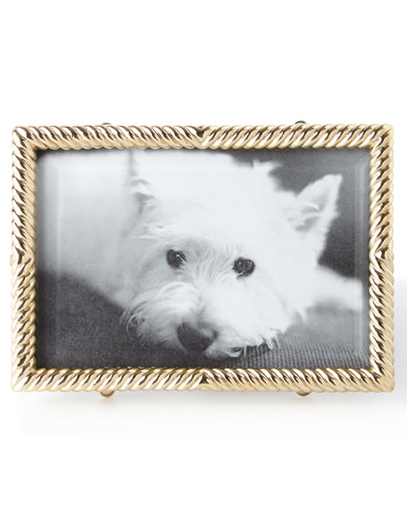 "L'Objet Gold Deco Twist 4"" x 6"" Picture Frame"