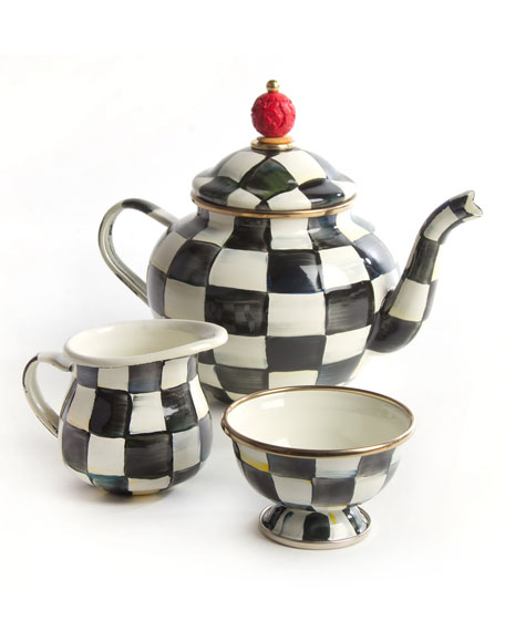 MacKenzie-Childs Courtly Check Teapot Set