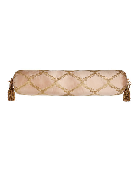 "Extra-Long Versailles Bolster Pillow with Tassels, 9"" x 36"""