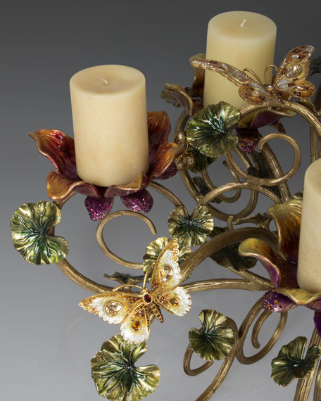 Floral & Butterfly Candelabrum