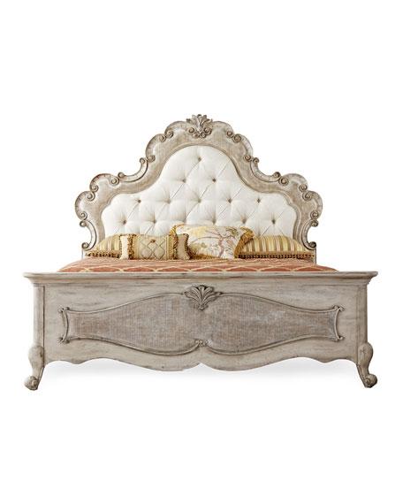Estelline Queen Upholstered Panel Bed