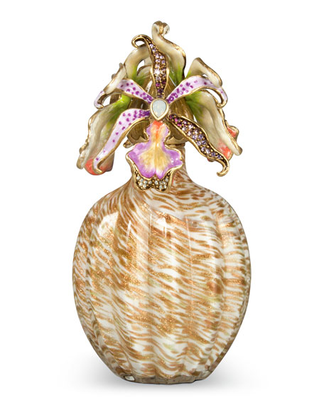 Jay Strongwater Orchid Cluster Perfume Bottle