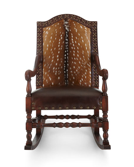 Image 3 of 4: Old Hickory Tannery Jefferson Rocking Chair