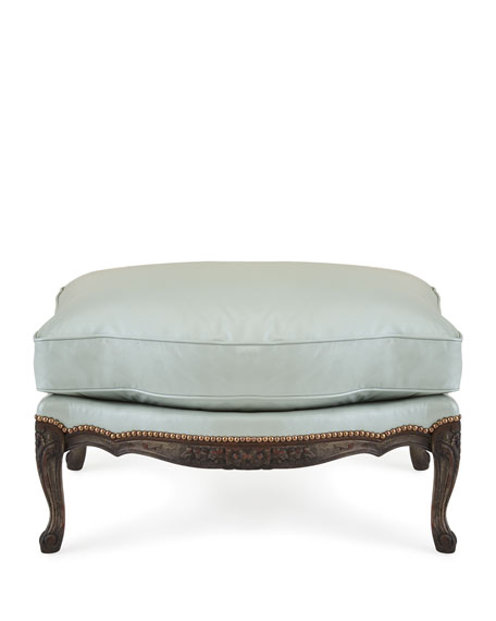 Old Hickory Tannery Bates Leather Ottoman