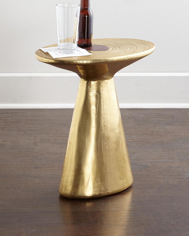 - Dorian Brass Accent Table Neiman Marcus