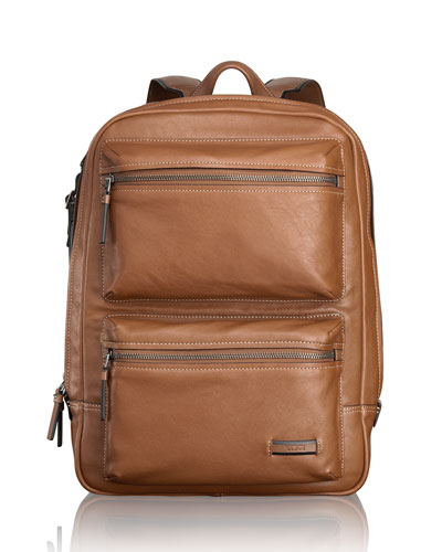Mission Tan Bryant Leather Backpack