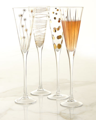 Champagne Flutes, Set of 4