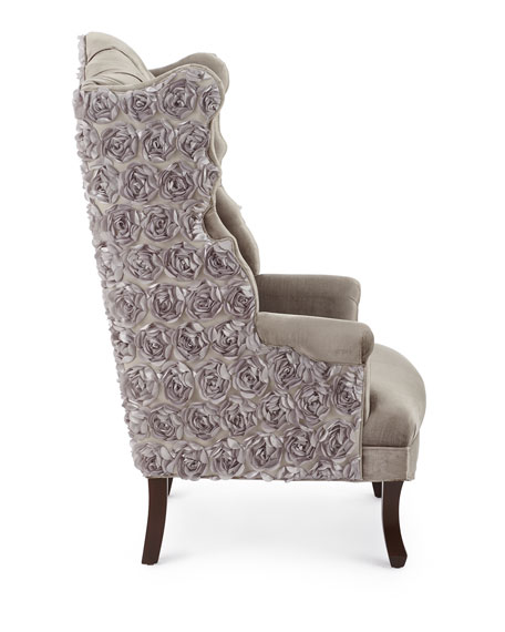 Isabella Rosette Wingback Chair