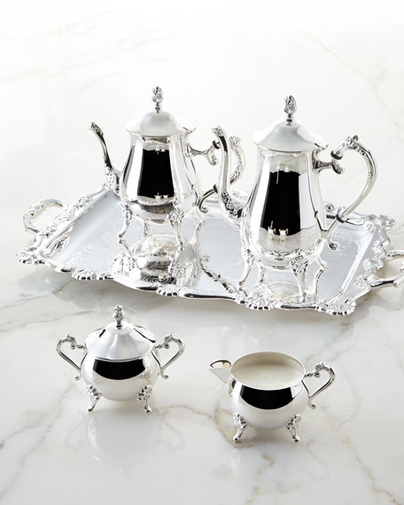 Silver Tray Coffee Table Decorating Ideas: Godinger 5-Piece Coffee & Tea Service