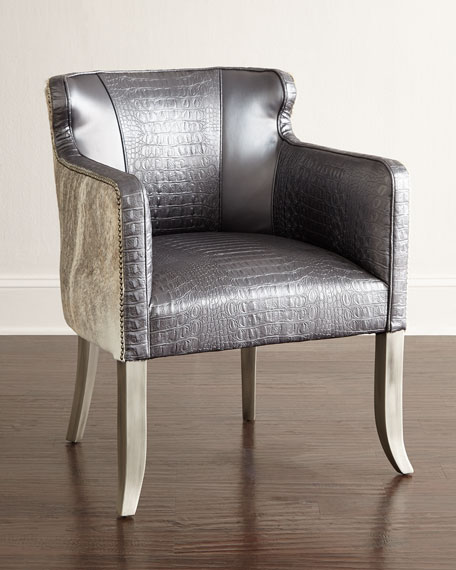 Old Hickory Tannery Pippin Hairhide Dining Chair