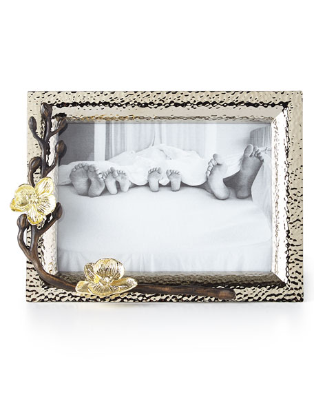 """Michael Aram Gold Orchid 5"""" x 7"""" Picture Frame"""