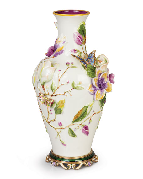 Jay Strongwater Magnolia Vase