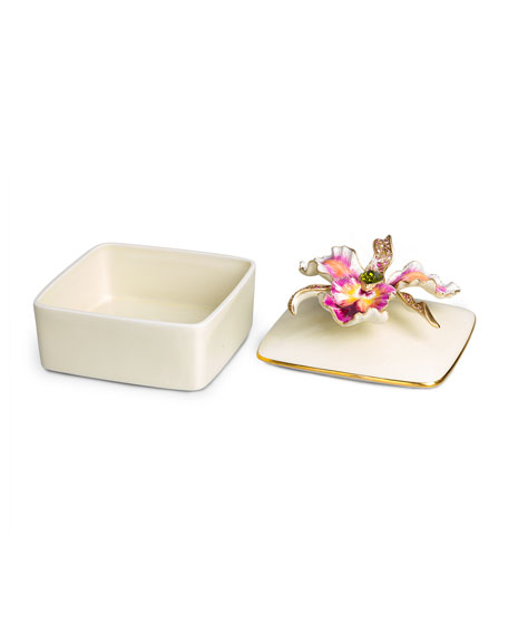 Orchid Porcelain Box