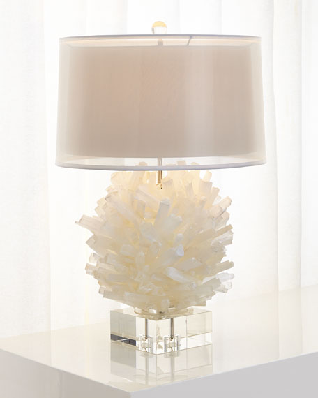 Selenite Table Lamp