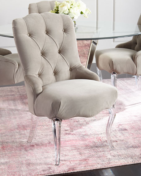 caracole Aveline Tufted Dining Chairs, Set of 2
