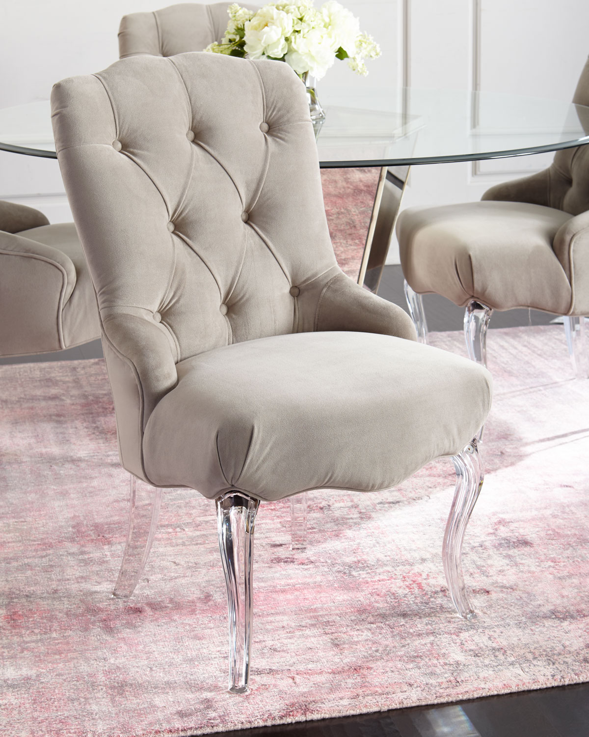 Caracole Aveline Tufted Dining Chairs Set Of 2 Neiman Marcus