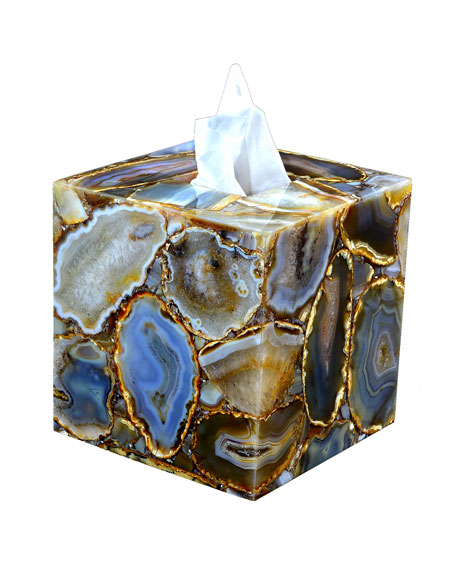 Taj Agate Tissue Box Cover