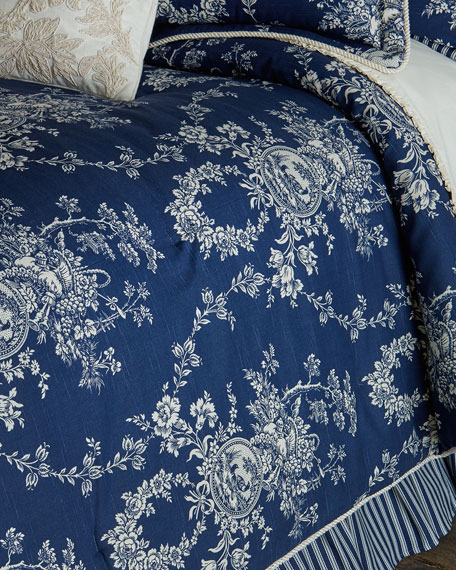 Sherry Kline Home King 3-Piece Country Toile Comforter Set