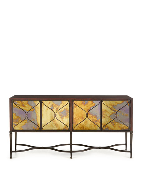 caracole Lorenzo Mirrored-Door Console