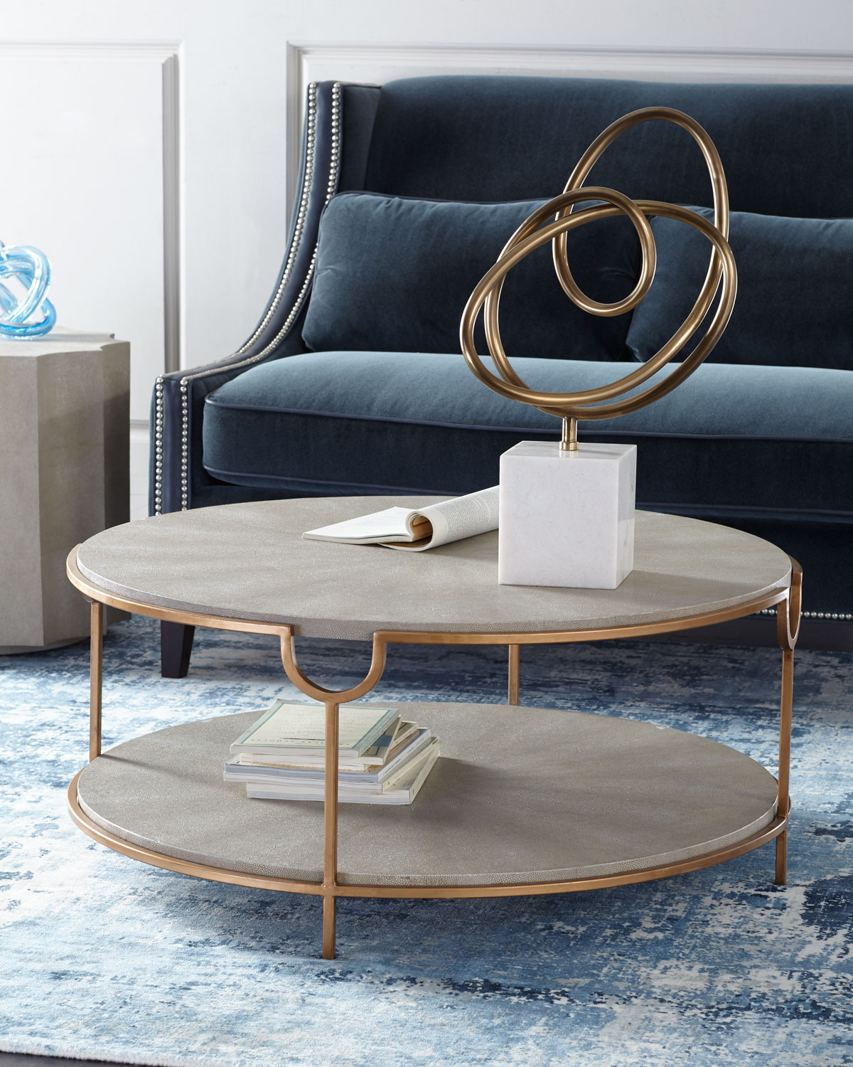 Magnificent Chaz Tiered Coffee Table Ocoug Best Dining Table And Chair Ideas Images Ocougorg