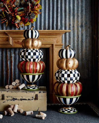 Entryway Stacking Pumpkins