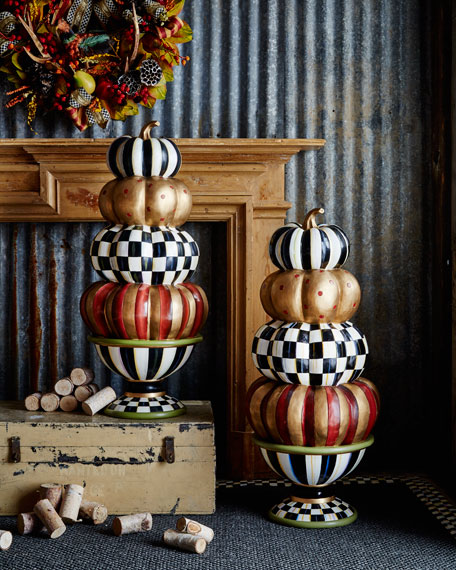 MacKenzie-Childs Entryway Stacking Pumpkins