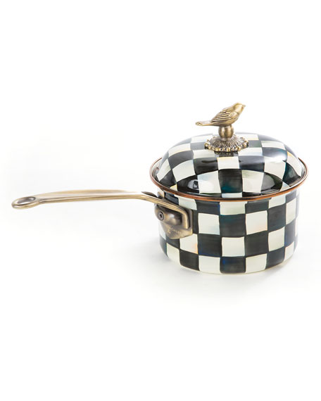 MacKenzie-Childs Courtly Check 2.5-Quart Saucepan