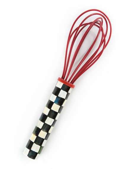 MacKenzie-Childs Courtly Check Small Red Whisk
