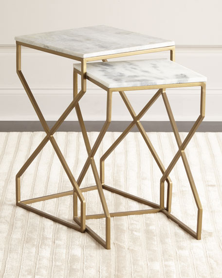 Reagan nesting end tables neiman marcus