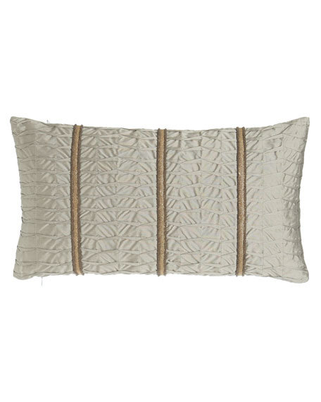 "Pleat-Textured Pillow, 13"" x 23"""