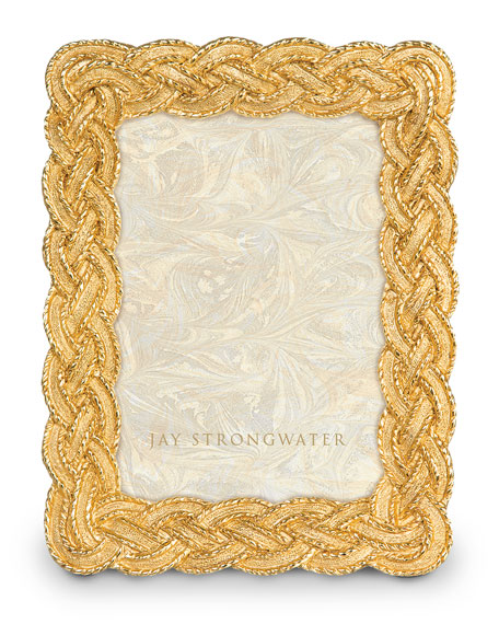 """Jay Strongwater Braided 3.5"""" x 5"""" Picture Frame"""