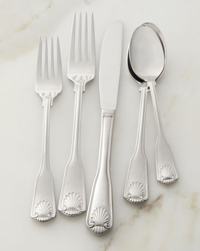 45-Piece London Shell Flatware Service