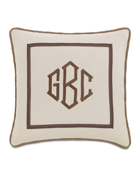 Eastern Accents Vivo Bisque Pillow with Monogram