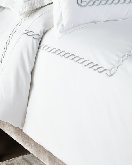 Image 1 of 3: Kassatex Two King Catena Pillowcases