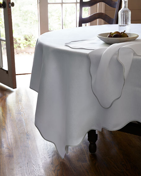 "Matouk Meira 90""Dia. Tablecloth"