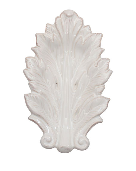 "Juliska Acanthus Whitewash 7"" Leaf Tray"